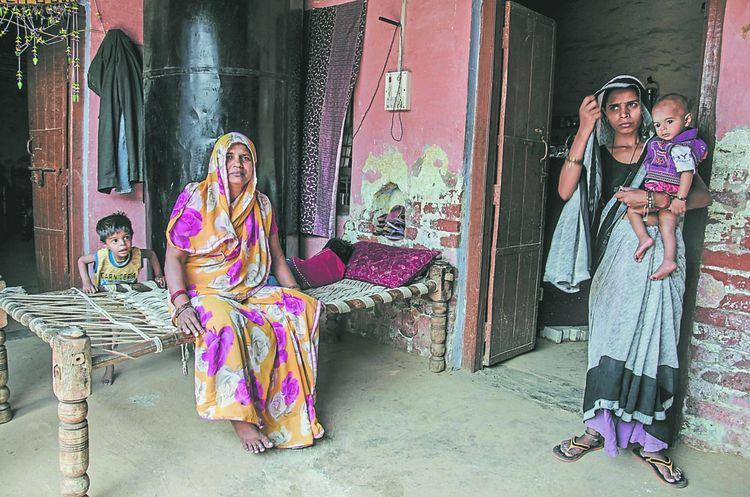 Nirmala, mère de Ravi Singh, 22 ans, battu à mort, avec d'autres membres de sa famille