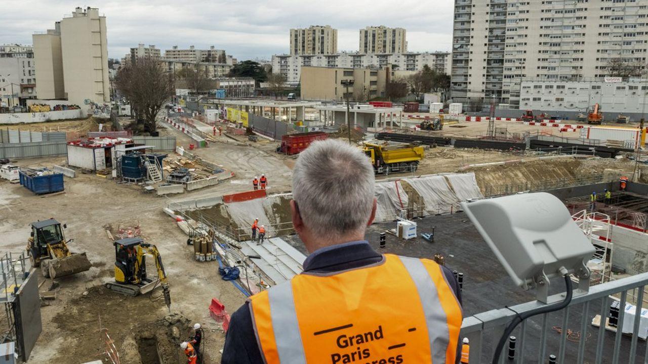 Chantier de la future gare Grand Paris Express de Bagneux.