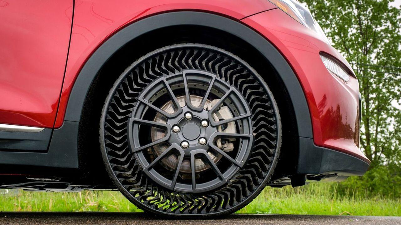 Les pneus Uptis développés par Michelin sont actuellement testés sur des voitures de General Motors (photo: Chevrolet Bolt EV)
