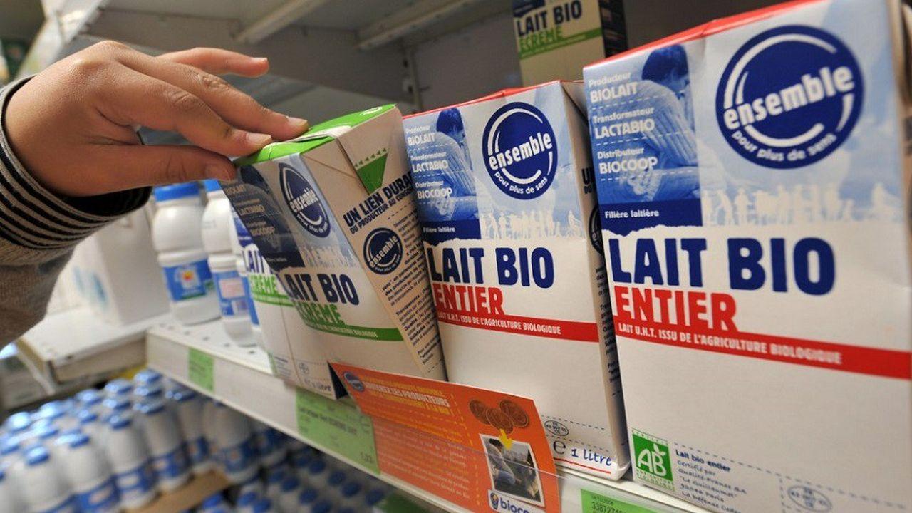 Quelque 837millions de litres de lait bio ont été produits l'an dernier.