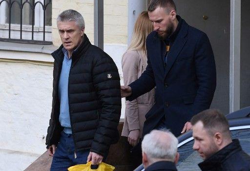 Michael Calvey à sa sortie du tribunal le 11 avril 2019