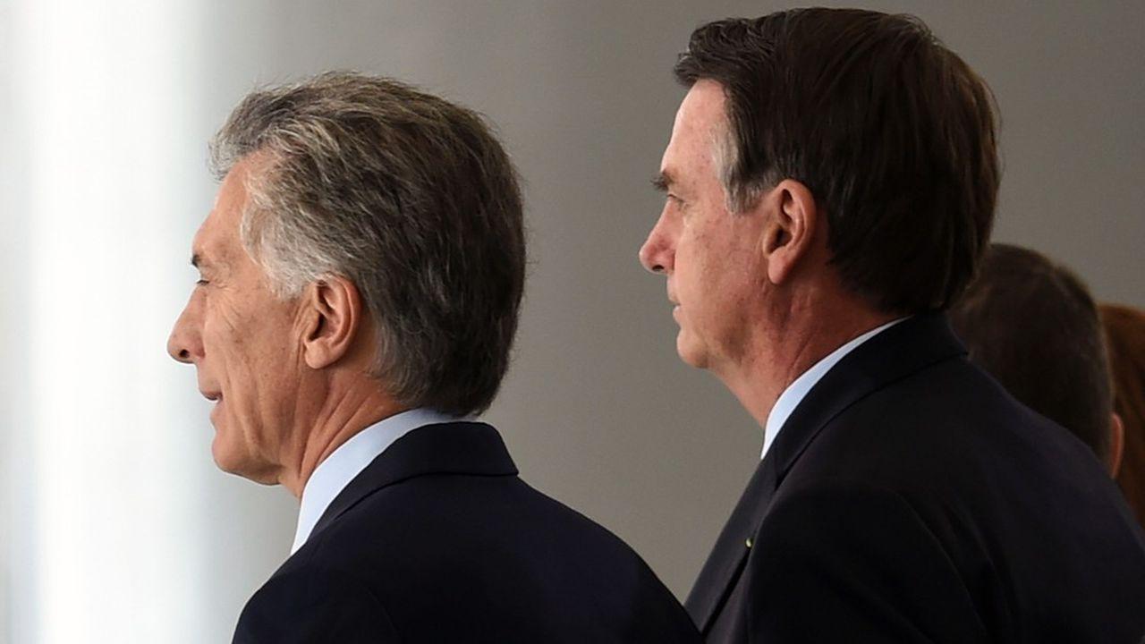 Candidat à la réélection en octobre, le président argentin Mauricio Macri a reçu le soutien de son homologue brésilien Jair Bolsonaro.