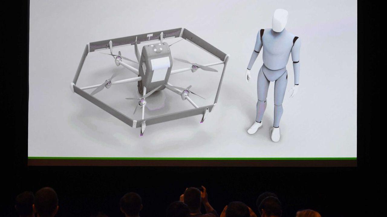 Le nouveau drone d'Amazon est sensiblement plus gros que ceux vendus dans le grand public. Une envergure nécessaire pour le transport de colis