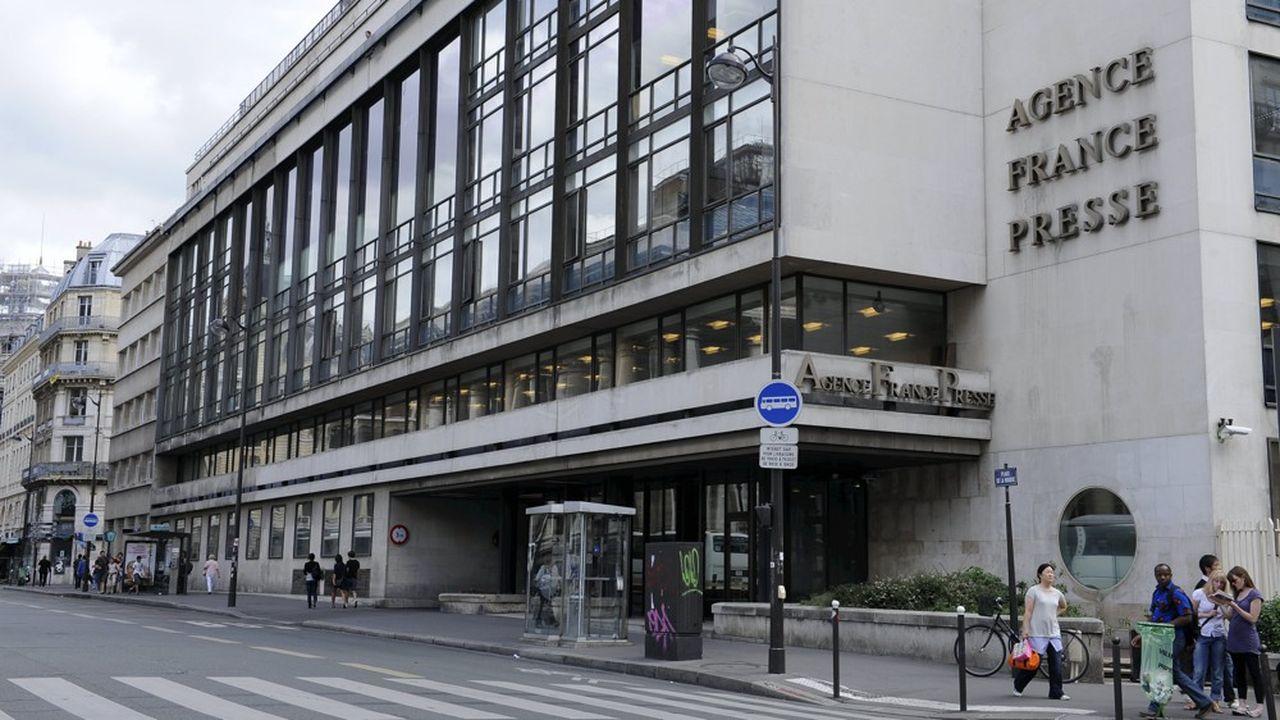 Le siège de l'Agence France Presse à Paris, Place de la Bourse.