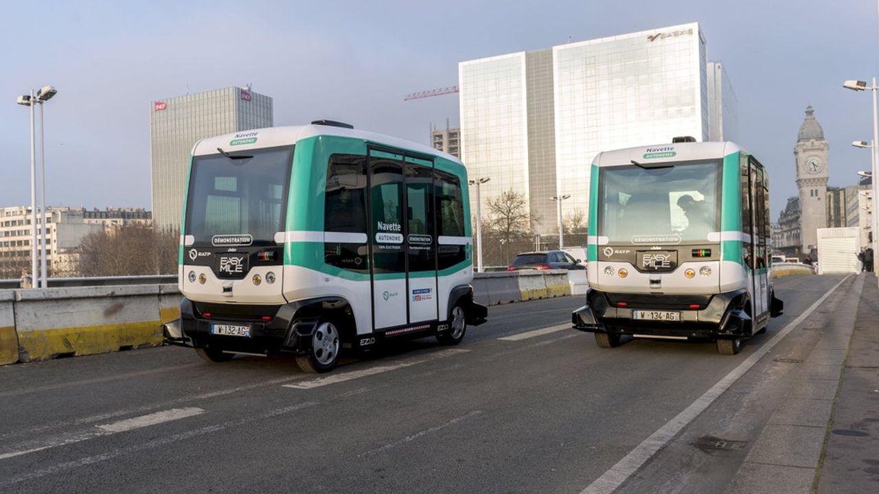 La solution des minibus autonomes est particulièrement adaptée aux déplacements en zone urbaine semi-dense.