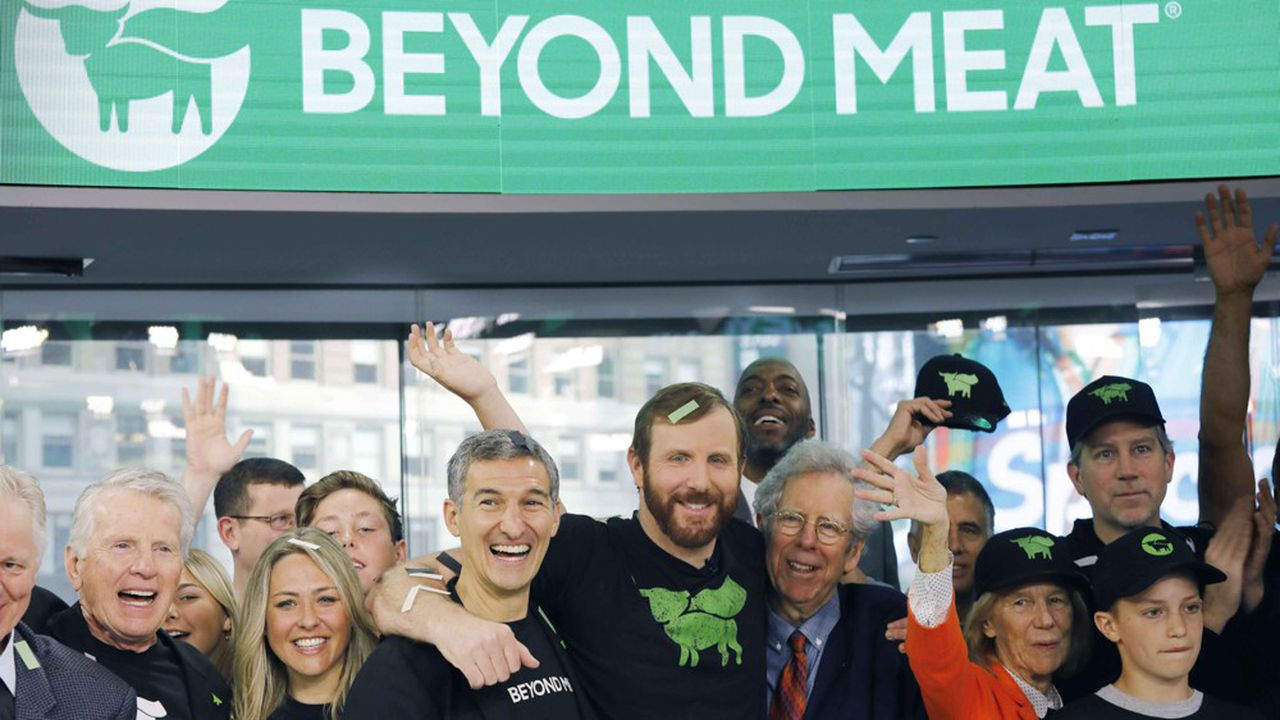 La start-up créée en 2009 par Ethan Brown a déjà progressé de plus de 70% à Wall Street