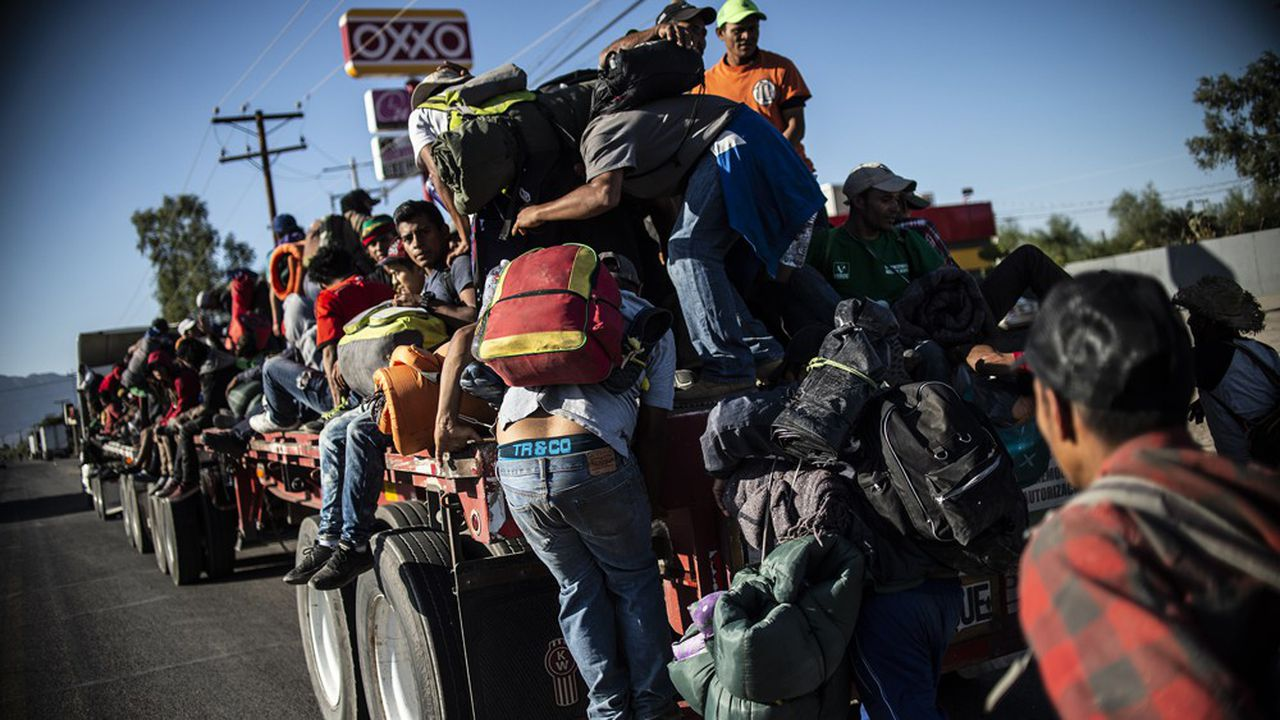 Des migrants venant d'Amérique Centrale, notamment du Honduras, tentent leur chance vers les Etats-Unis.