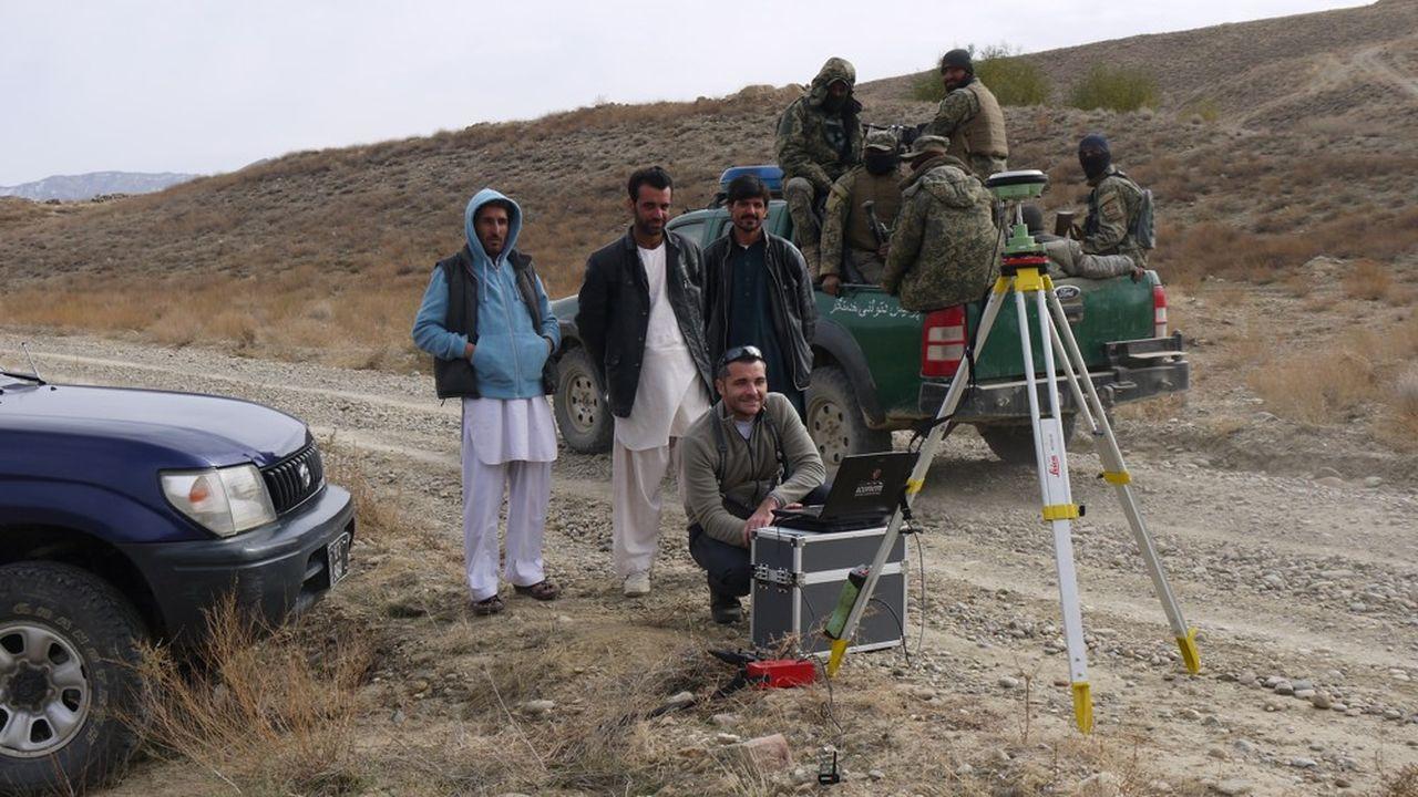 Utilisation de drones dans le cas d'une mission archéologique en Asie centrale.