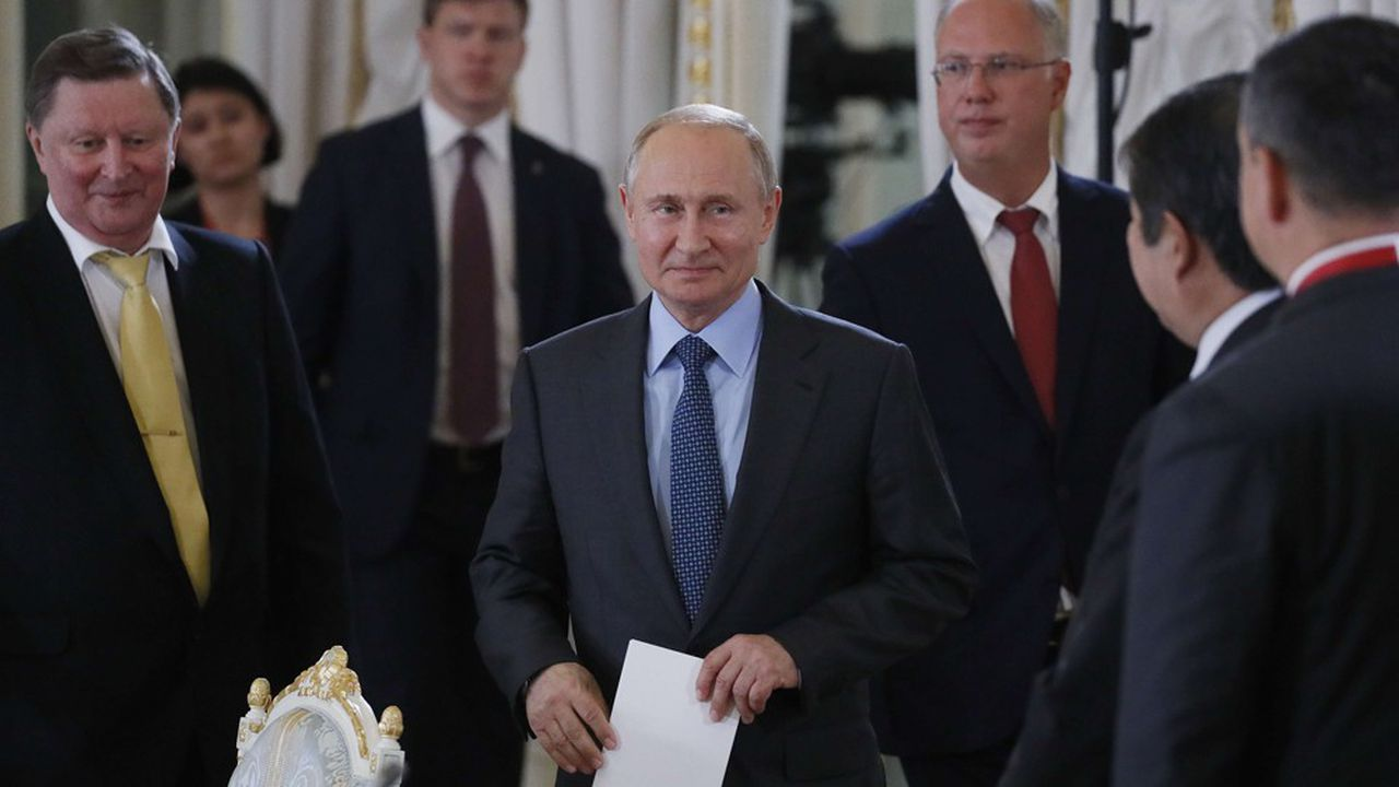 Vladimir Poutine au Forum de Saint-Pétersbourg.