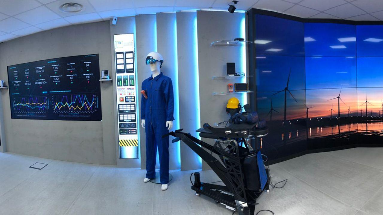 Accenture Labs a aménagé des espaces thématiques où les visiteurs peuvent se projeter dans un environnement virtuel.