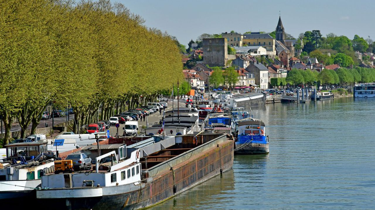 Bords de Seine à Conflans-Sainte-Honorine.