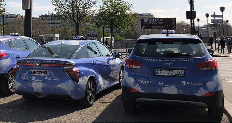 Taxis Hype fonctionnant à l'hydrogène.