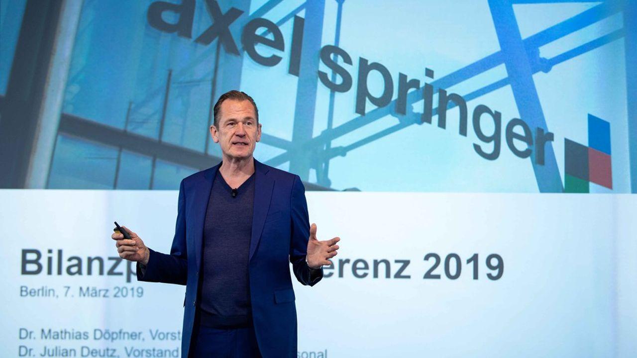 Aux commandes du groupe Axel Springer depuis vingt ans, Mathias Döpfner, le président du directoire, restera impliqué dans la gestion du groupe avec Friede Springer, la veuve du fondateur.