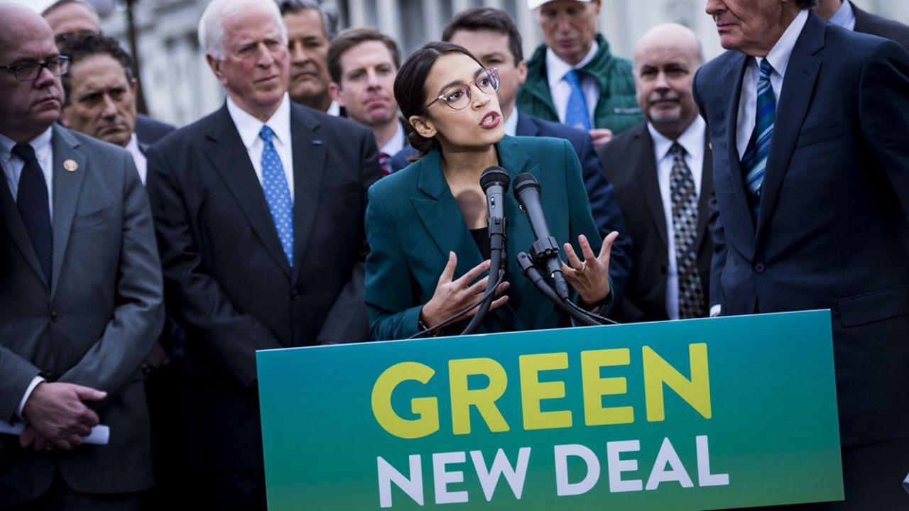 Aux Etats-Unis, la démocrate Alexandria Ocasio-Cortez a fait son cheval de bataille du Green New Deal.