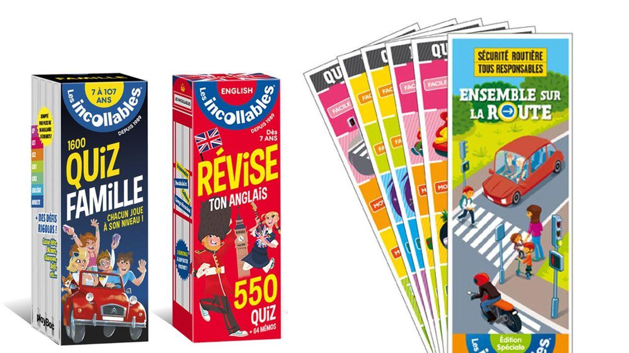 La marque s'est déclinée en plusieurs produits : quizz familial, questions-réponses pour réviser l'Anglais etc.