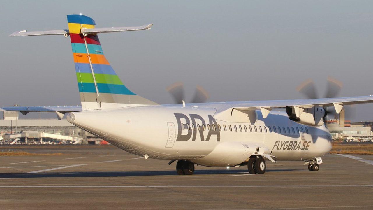 La compagnie suédoise Braathens regional airlines a utilisé un ATR 72-60O, alimenté par un mélange de kérosène et de biocarburant.