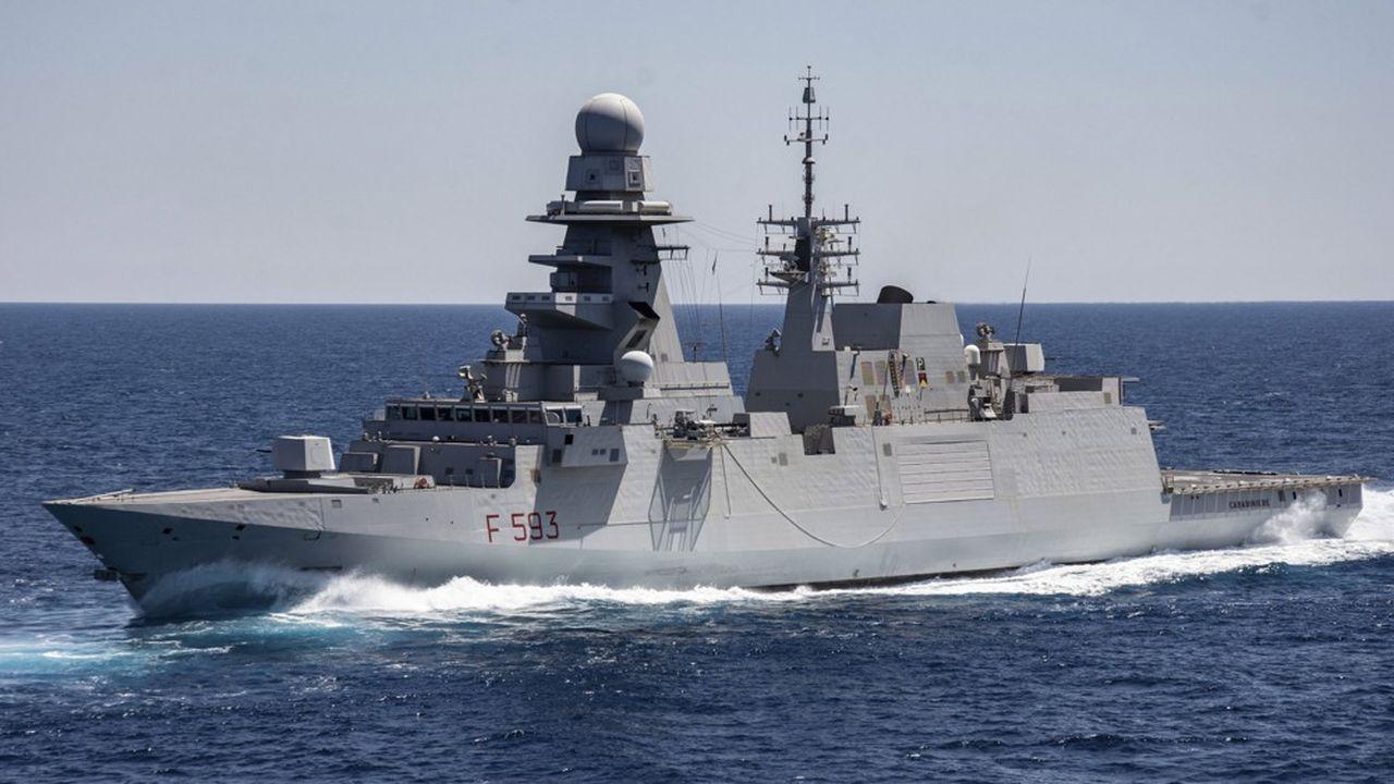 La société commune à Fincantieri et Naval Group fera une offre commune cet été pour la rénovation des 4 frégates Horizon des marines française et italienne. Ici la Fremm Carabiniere italienne en Méditerranée.