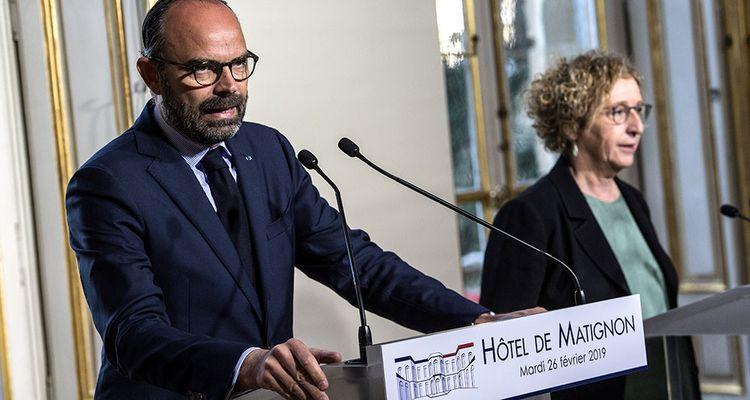 Edouard Philippe, le Premier ministre, et Muriel Penicaud, la ministre du Travail.