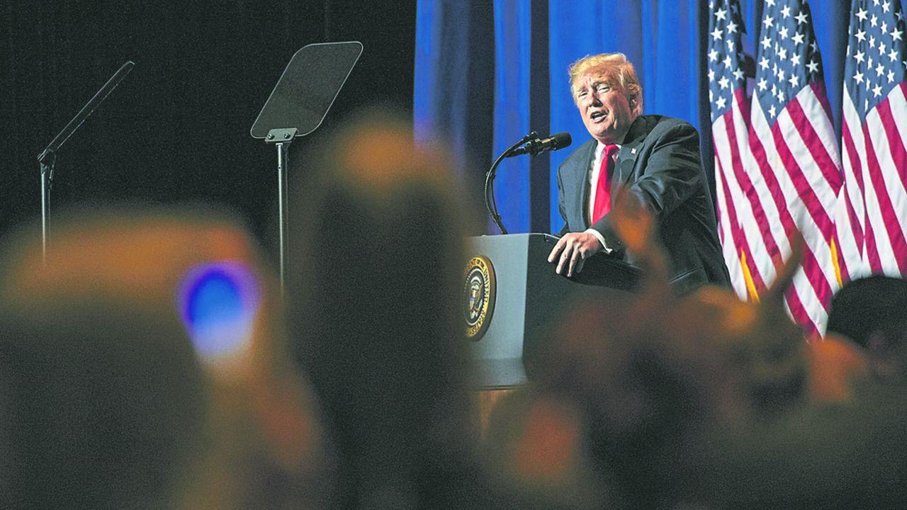 Donald Trump a organisé près d'une soixantaine de meetings depuis son investiture en janvier2017.