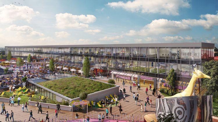 Le toit terrasse de 8.000 mètres carrés va être transformé en un lieu de vie.