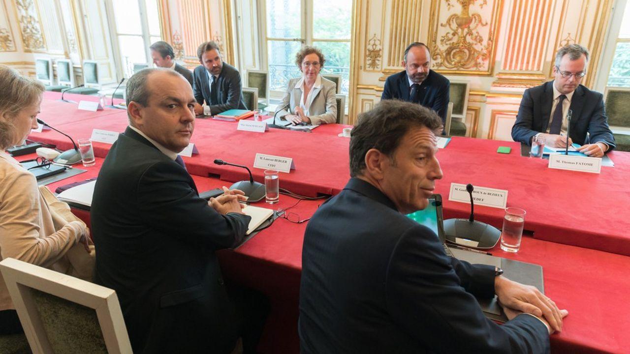 C'est une réforme archi-perdante pour 100% des demandeurs d'emploi», a déclaré le secrétaire général de la CFDT, Laurent Berger, ici lors de la réunion de présentation de la réforme de l'assurance-chômage par Edouard Philippe.