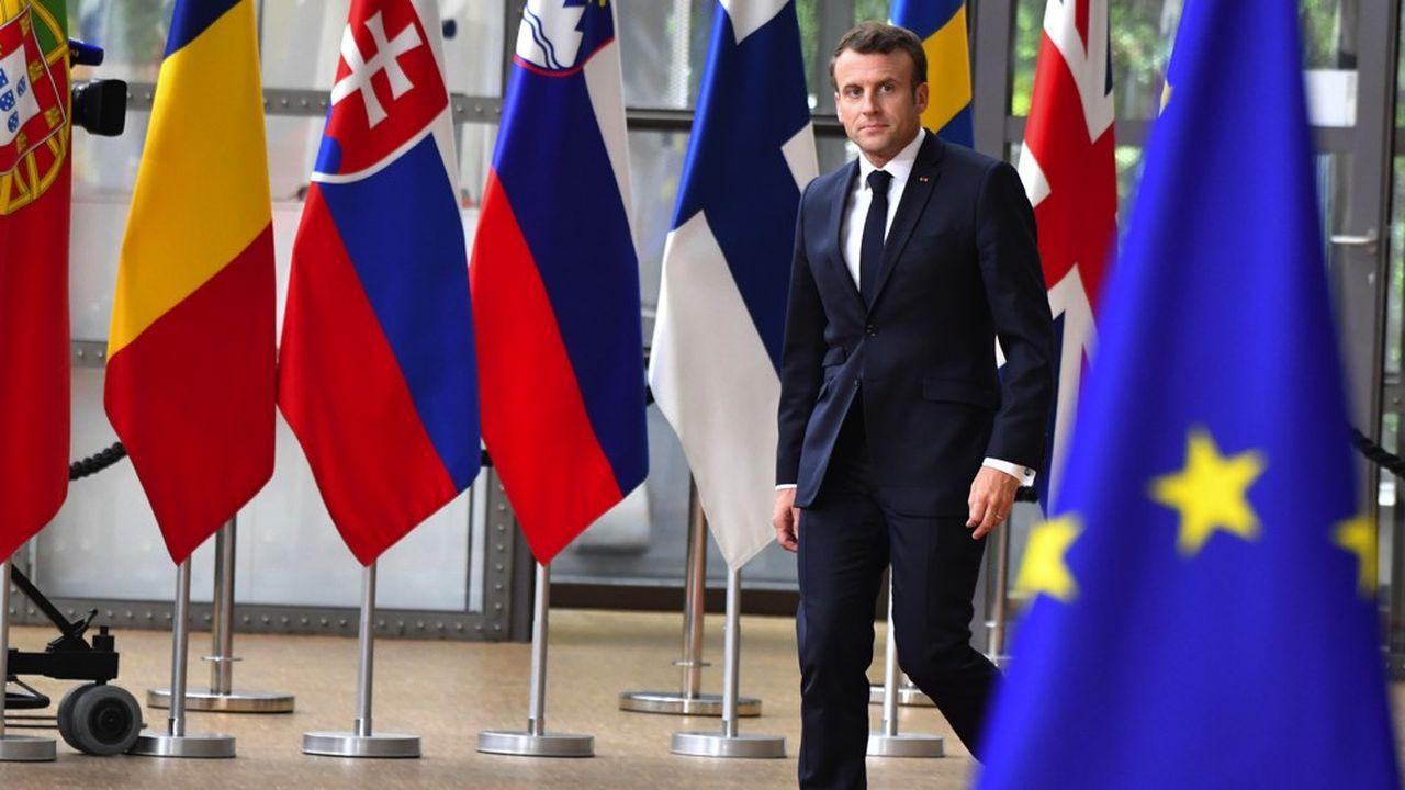 Emmanuel Macron, au sommet de l'Union européenne à Bruxelles le 28 mai 2019.