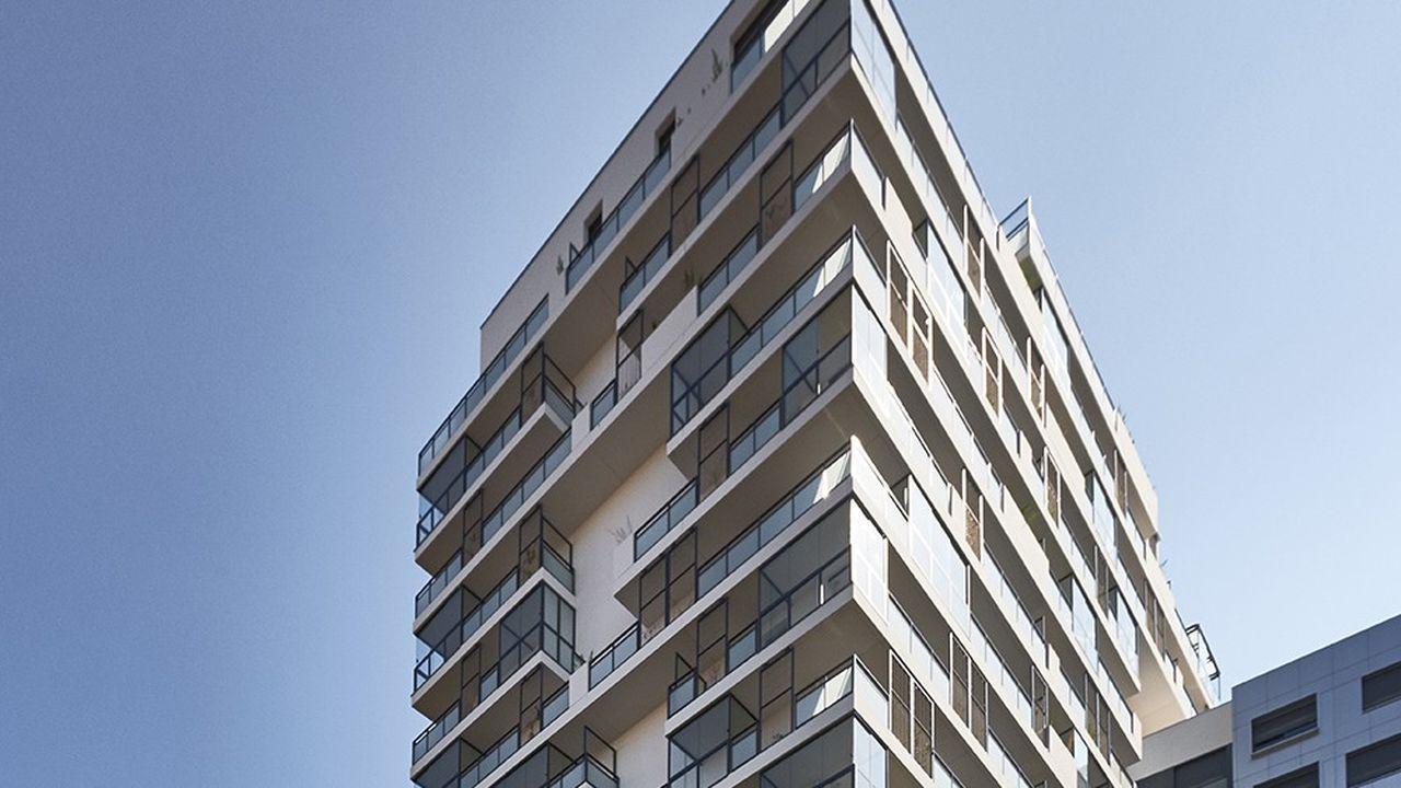 Immeuble du quartier de la Capsulerie, à Bagnolet proche de la station de métro Robespierre à Montreuil (Seine-Saint-Denis).