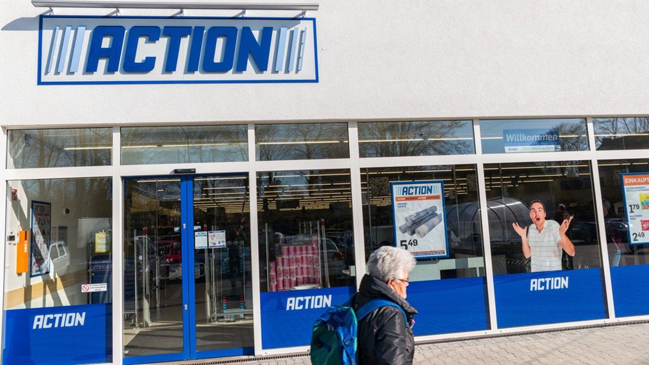 Action compte 444 magasins en France.