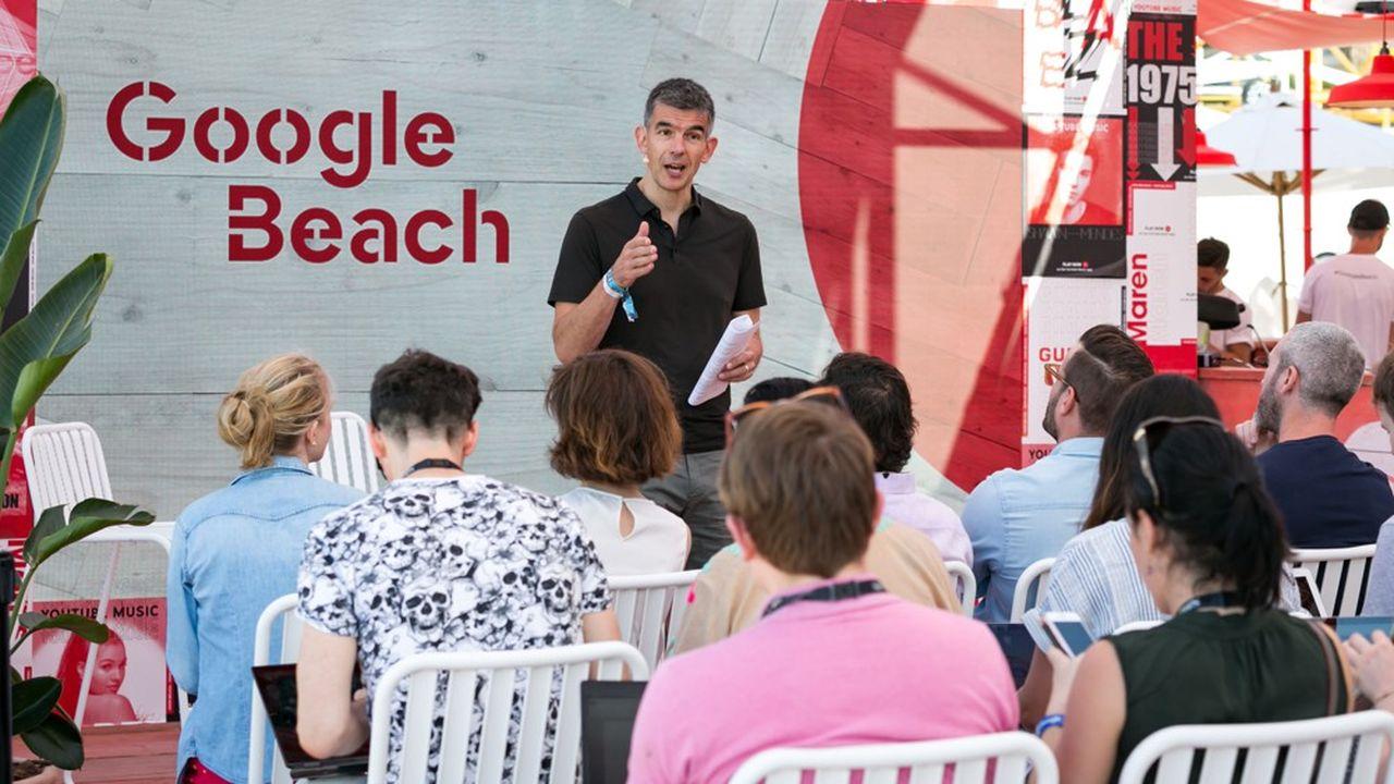 Matt Brittin, le PDG Europe de Google, ce mercredi 19juin sur la Google Beach, aux Cannes Lions.