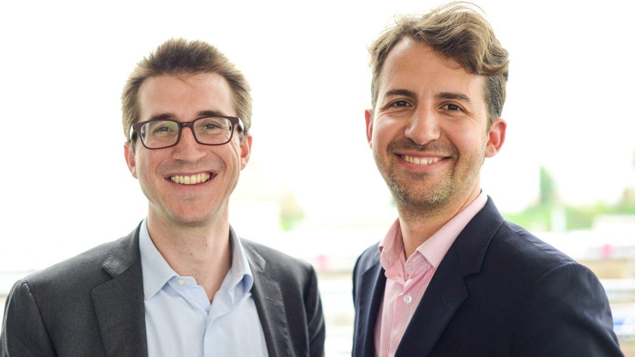 Les deux fondateurs de Deepki, Emmanuel Blanchet, directeur général (à gauche), et Vincent Bryant (à droite).