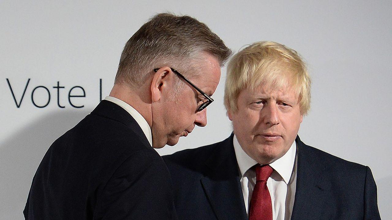 Le «Times» pariait, ce vendredi matin, sur une solution plus pragmatique où, pour des raisons tactiques, Johnson, s'il était élu Premier ministre, accueillerait malgré tout Gove (à gauche) parmi ses ministres