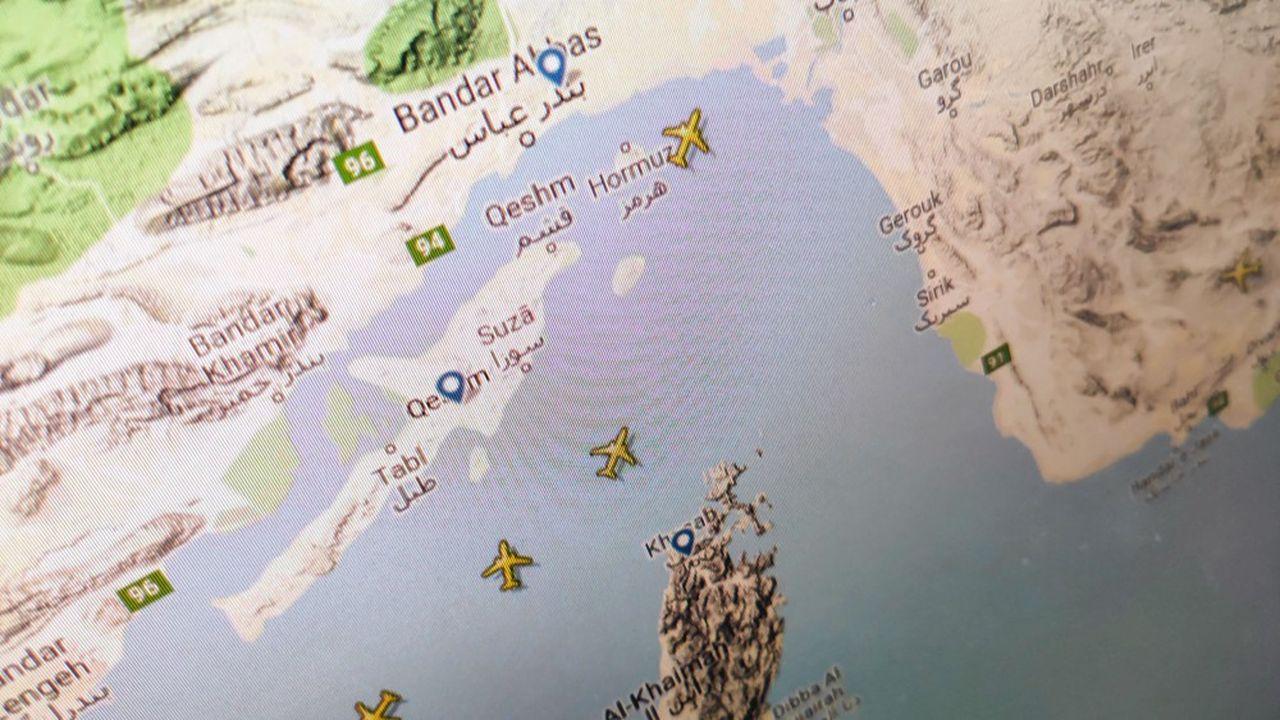 L'espace aérien au-dessus du détroit d'Ormuz est sur la route de certains vols vers l'Inde.