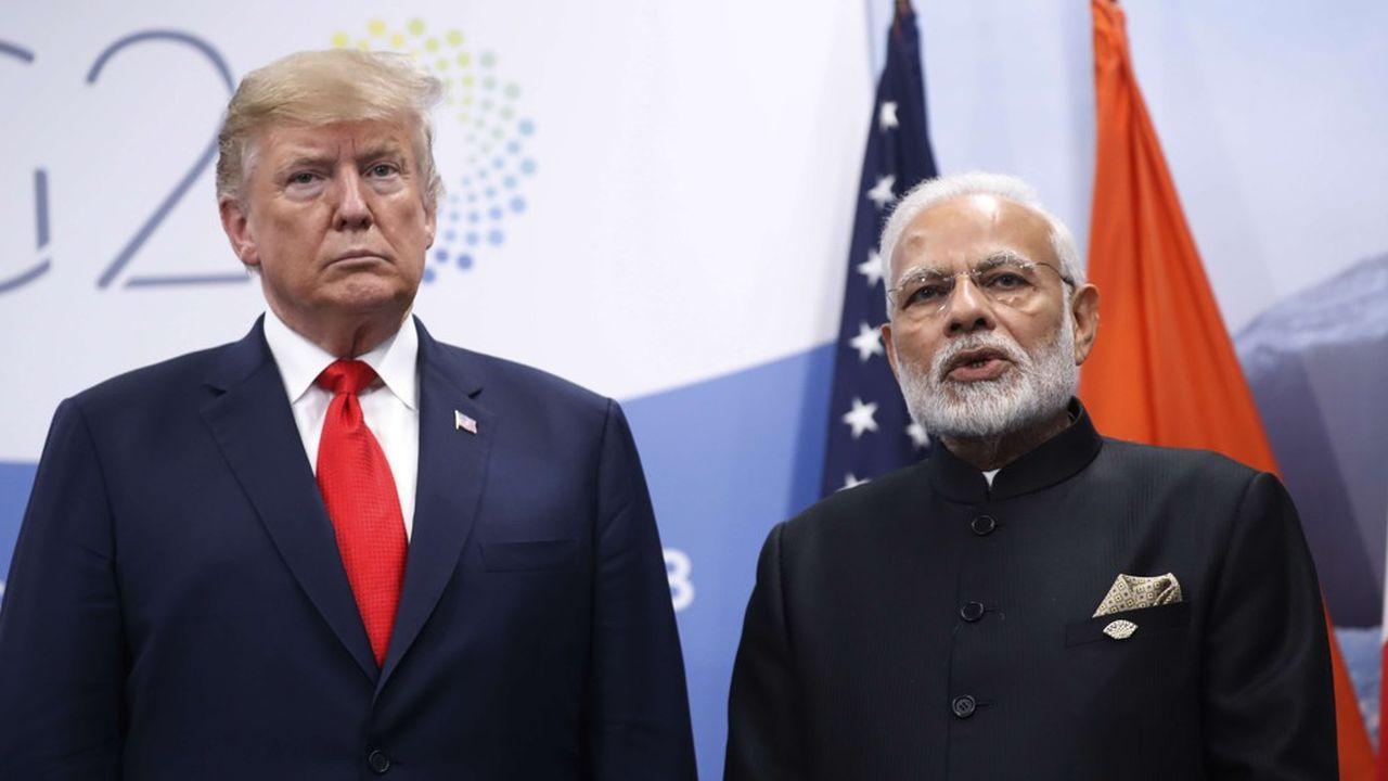 Le président américain, Donald Trump et le Premier ministre indien, Narendra Modi, le 30novembre dernier au G20 de Buenos Aires, en Argentine.