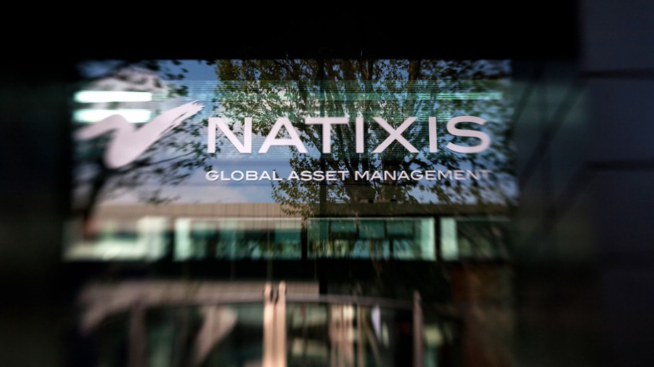 A picture taken on April 14, 2012 in Paris, shows the logo of Natixis, a corporate, investment and financial services arm of BPCE (Banque Populaire and Caisse d'Epargne). The bank announced the cut of jobs, between 700 to 1,000, within 2015, said two trade-unions of Natixis to AFP on October 16, 2013. AFP PHOTO LOIC VENANCE (Photo by LOIC VENANCE/AFP)