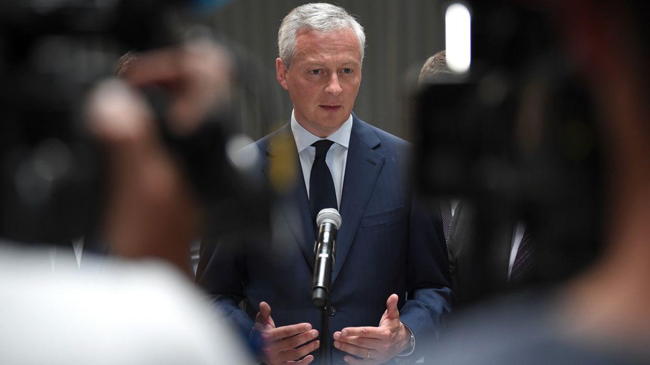 Le ministre de l'Economie et des Finances, Bruno Le Maire, continue de travailler à un allégement des impôts de production.