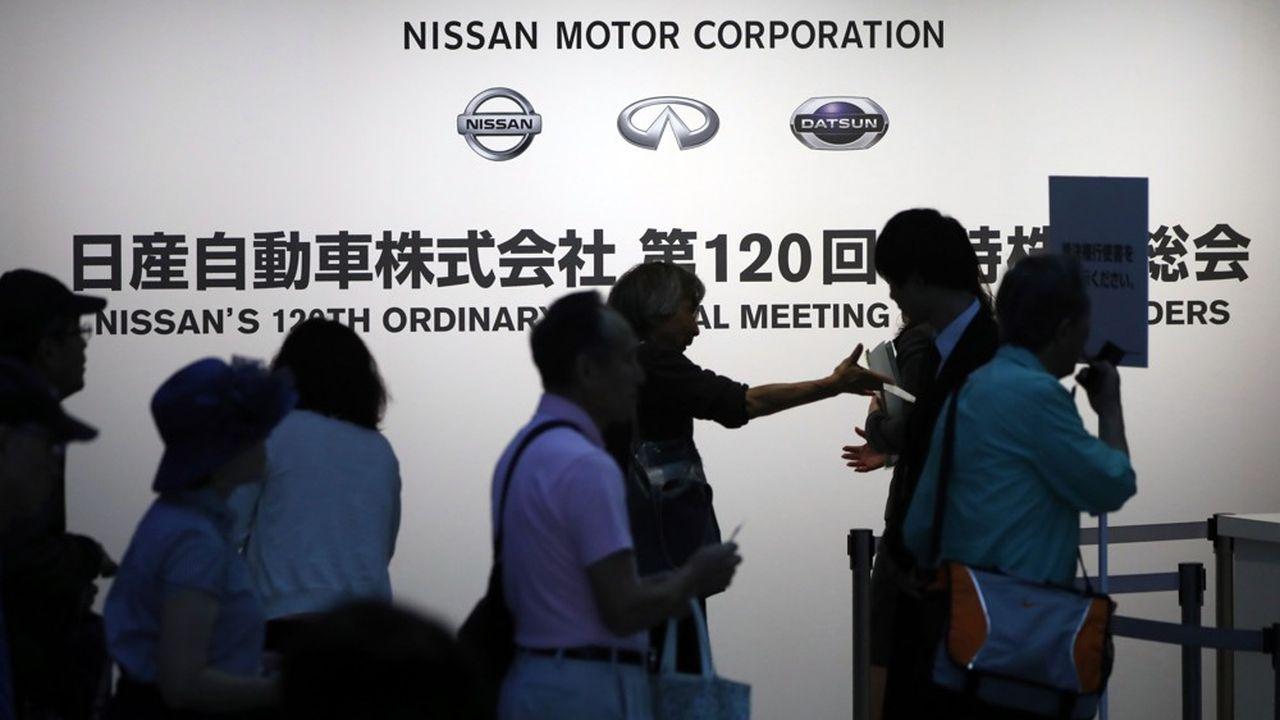 A l'assemblée générale de Nissan mardi, le directeur général de Nissan a laissé entendre que régler la question des participations croisées permettrait de relancer l'alliance.