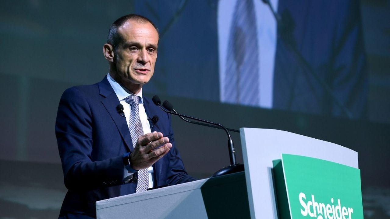 Jean-Pascal Tricoire, président-directeur général de Schneider Electric, a accueilli ce mercredi les investisseurs