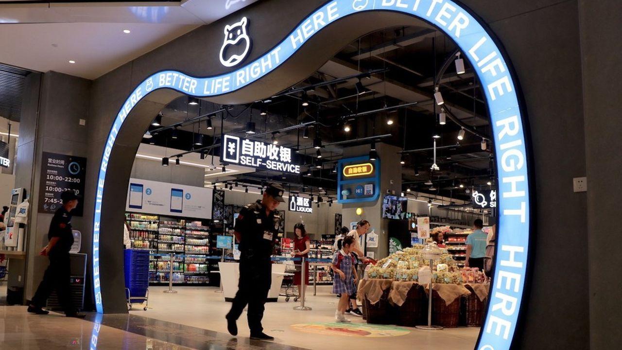 En 2018, 80 magasins Hema Fresh ont été ouverts en Chine