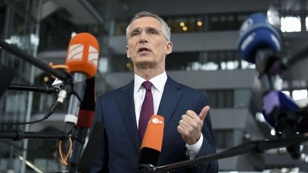 Le secrétaire général de l'Otan, Jens Stoltenberg, se félicite de la constance des hausses budgétaires des alliés européens pour la défense.