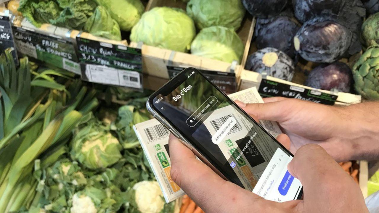 L'application de «scan & go» Neos est aujourd'hui utilisable dans une petite trentaine de magasins des enseignes Carrefour, Bio C'Bon ou encore Sephora.