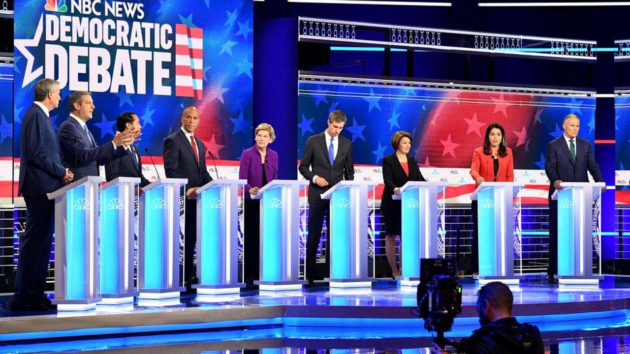 Les dix autres, dont les têtes d'affiche Joe Biden, ancien vice-président d'Obama, ou Bernie Sanders, le candidat «socialiste» de 2016, s'affronteront ce jeudi soir