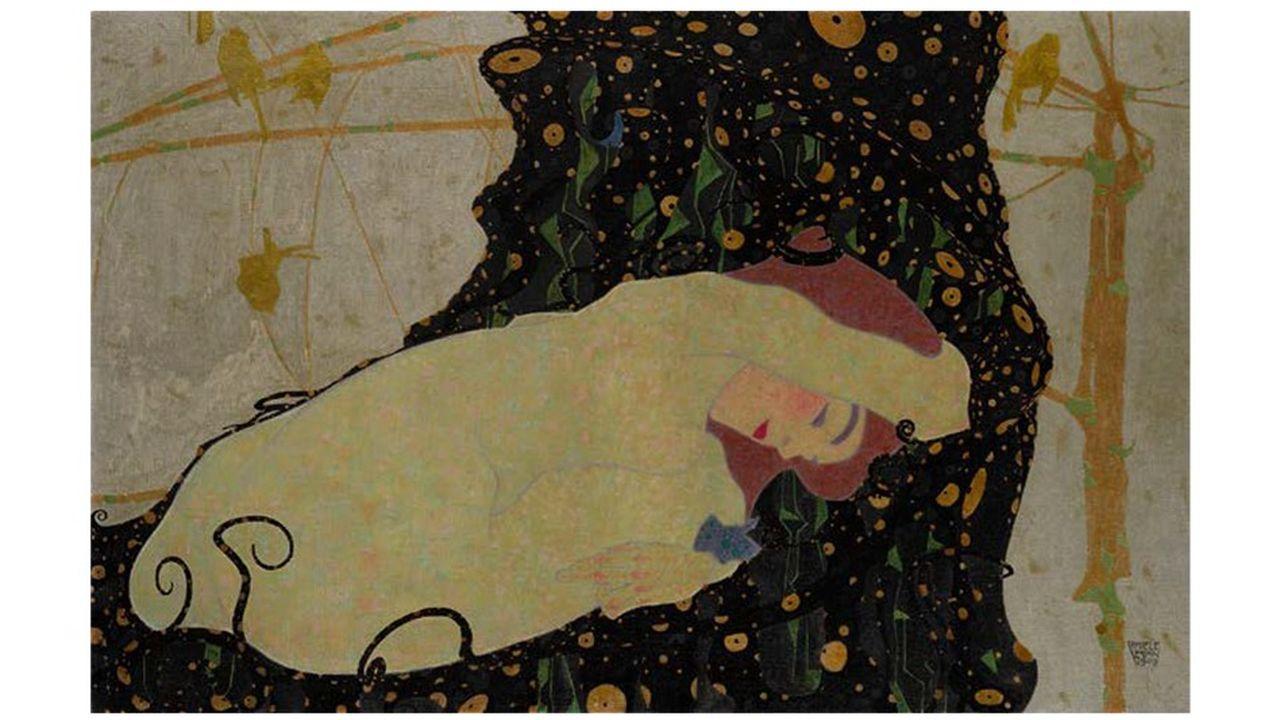 Chez Sotheby's, la star est Danaë, une jeune femme nue et sensuelle, contorsionnée par les soins du pinceau de l'autrichien Egon Schiele (1890-1918), dans un contexte fleuri. Estimations: 30 à 40 millions de dollars.