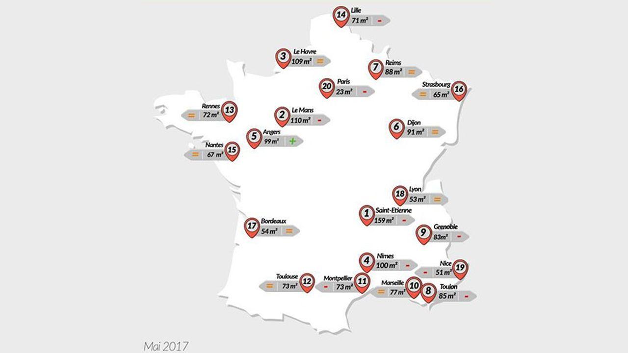 Immobilier : nouvelles baisses de pouvoir d'achat en mai dans près de la moitié des grandes villes de France.