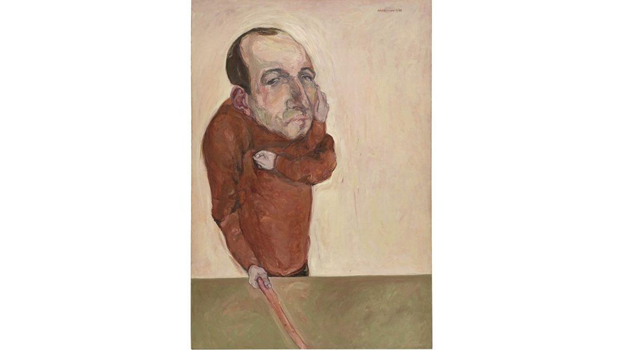 «Der Gemahl» (1966), huile sur toile de Marwan Kassab Bachi, dit Marwan, peintre syrien né à Damas en 1934 et mort en 2016 à Berlin, où il a vécu une grande partie de sa vie.