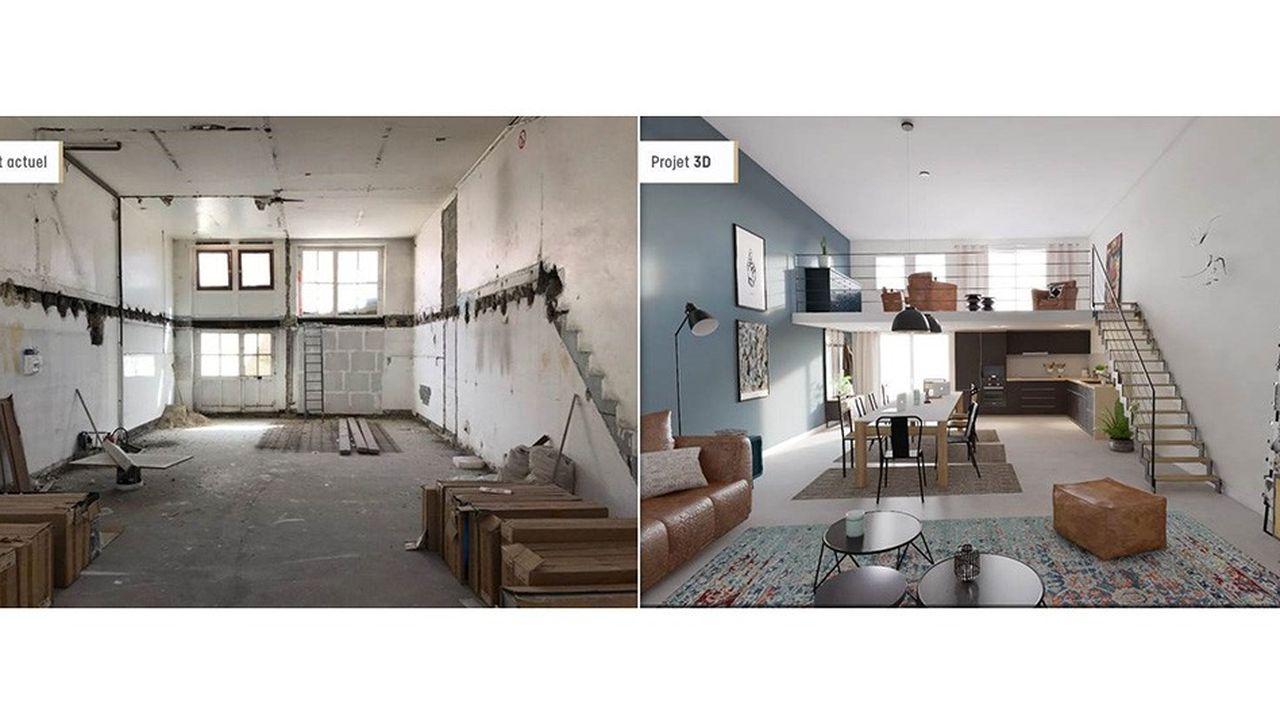 Des outils permettent d'obtenir le visuel d'un logement rénové