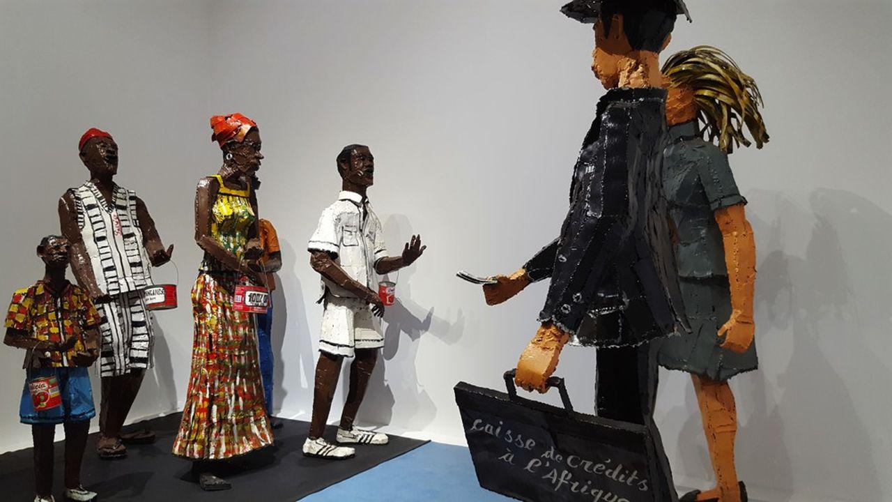 Une installation de Siriki Ky: «L'Afrique face à son destin» présentée dans l'exposition itinérante