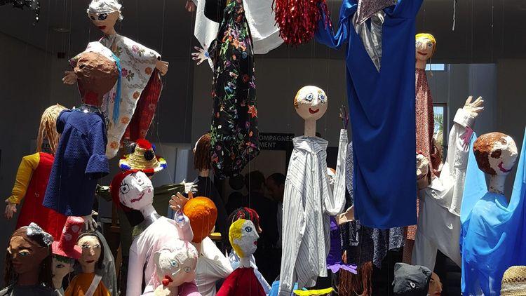 Un travail mené avec des enfants dans la Galerie 38, au sein du centre culturel privé dirigé parFihr Kettani