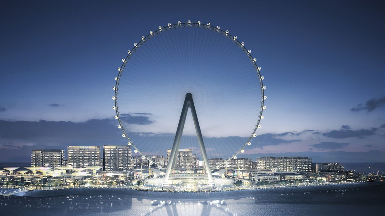 Le contrat clefs en main comprend la conception, la fourniture, la construction et l'installation des 48 capsules de la roue Aïn Dubaï.