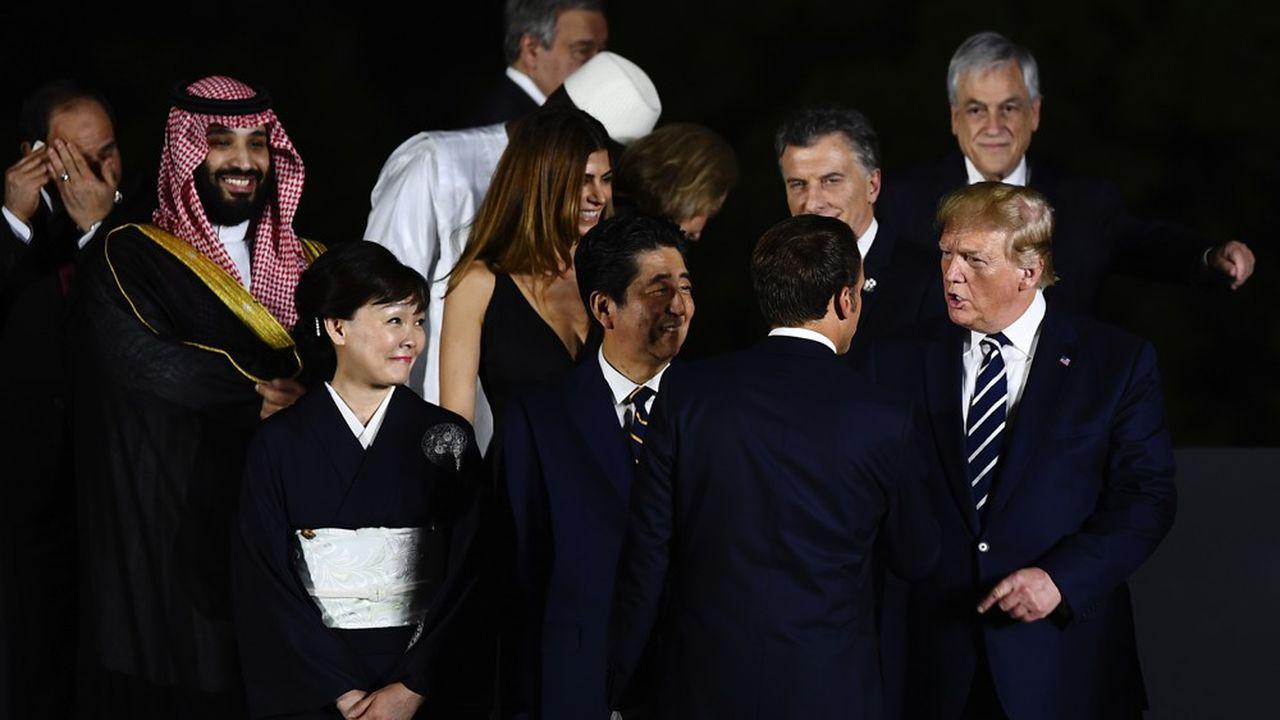 Au terme d'une première journée de négociations, les leaders du G20 se sont vus offrir, vendredi soir, un spectacle culturel à Osaka avant de poursuivre leurs travaux samedi matin.
