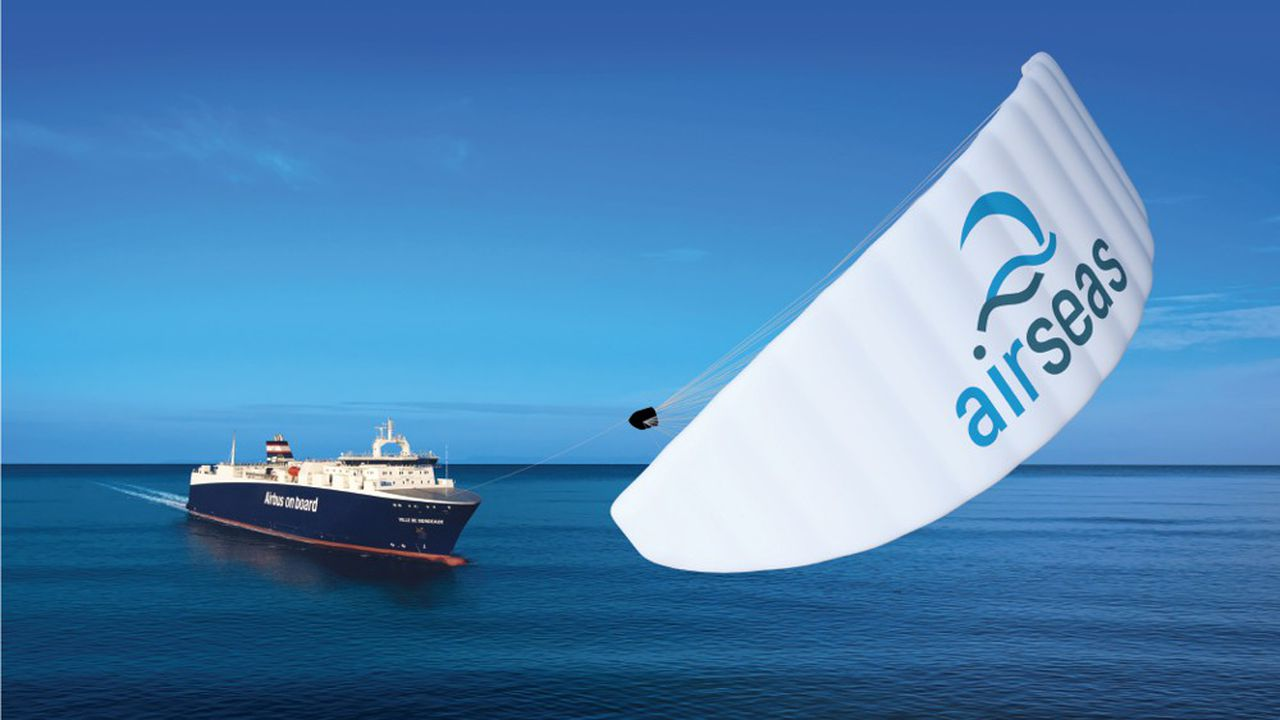 Airseas a conçu un système de pilotage automatique inspiré de l'aéronautique, qui indique à quel moment utiliser la voile en fonction de la météo et la meilleure route à suivre